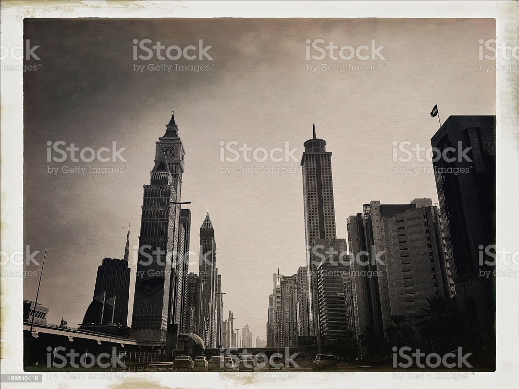 Dubai, Retro Look stock photo