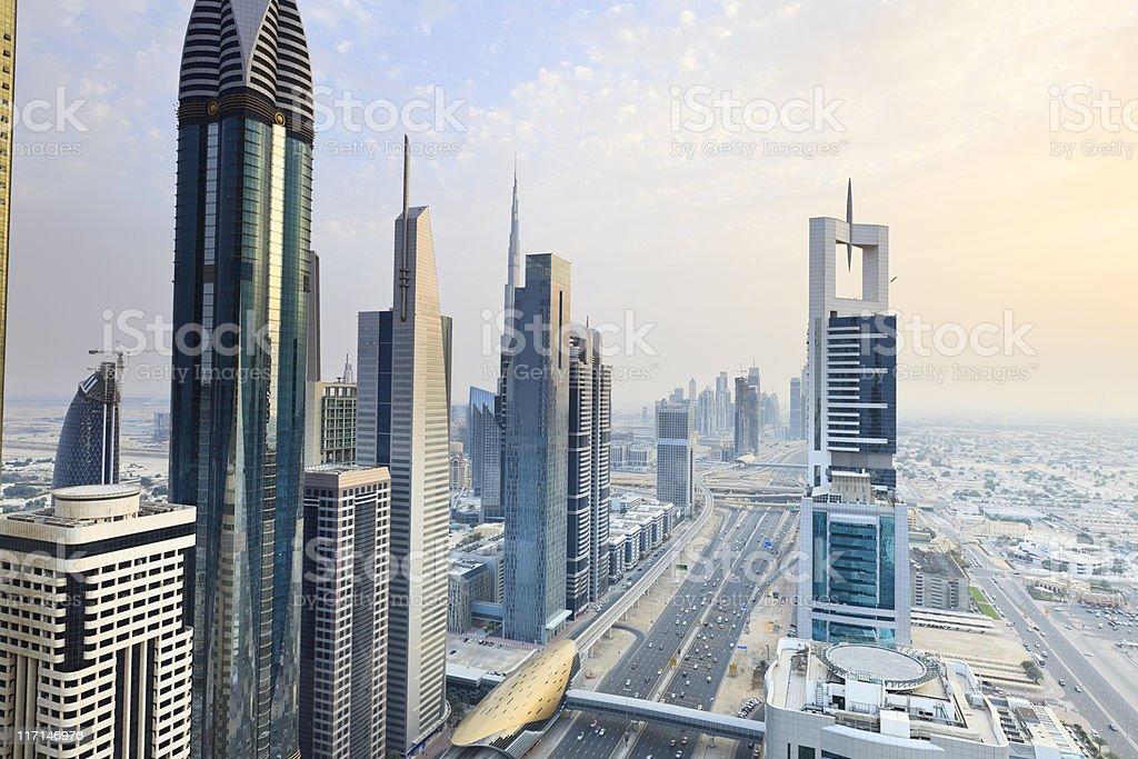 Dubai - Sheik Zayed Road royalty-free stock photo