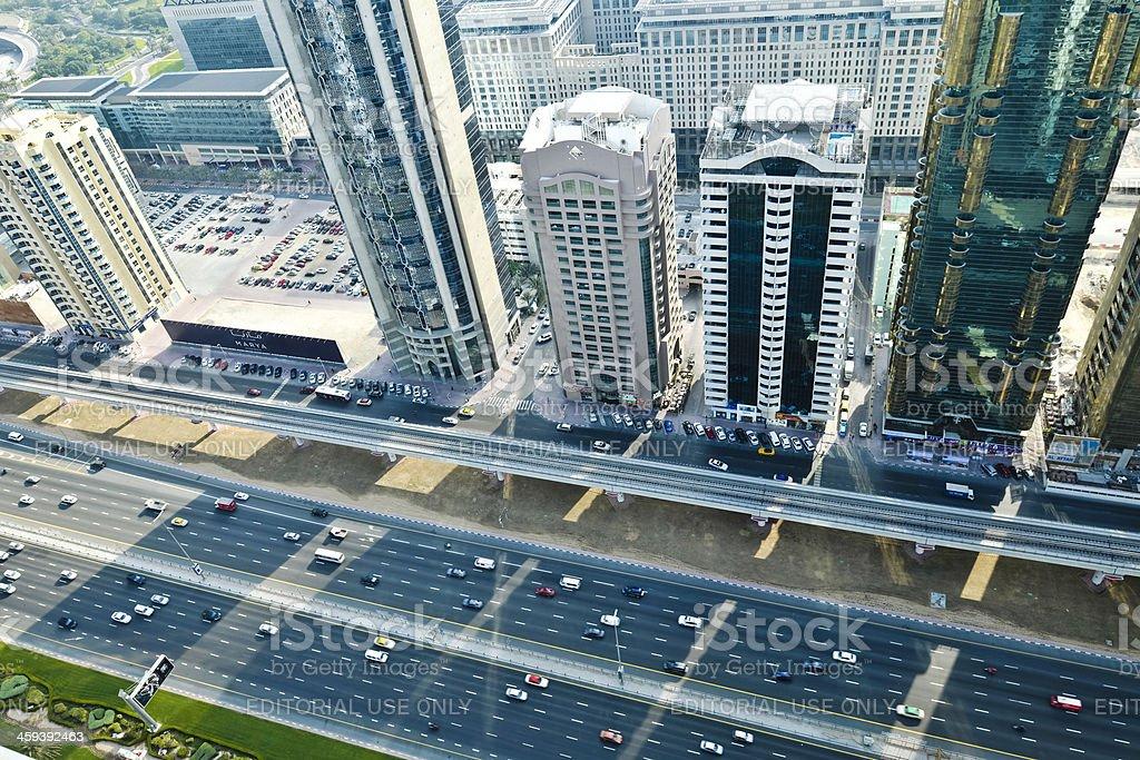 Dubai - Sheikh Zayed Road royalty-free stock photo