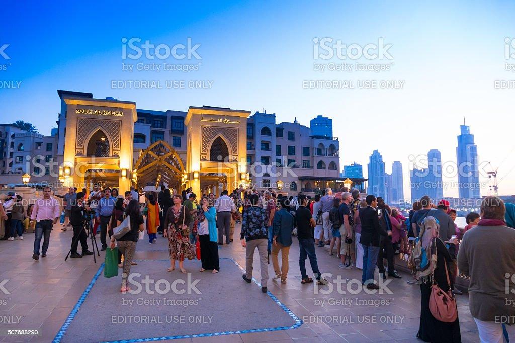 Dubai Shopping Mall - crowds stock photo