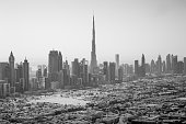 Dubai skyline aerial view