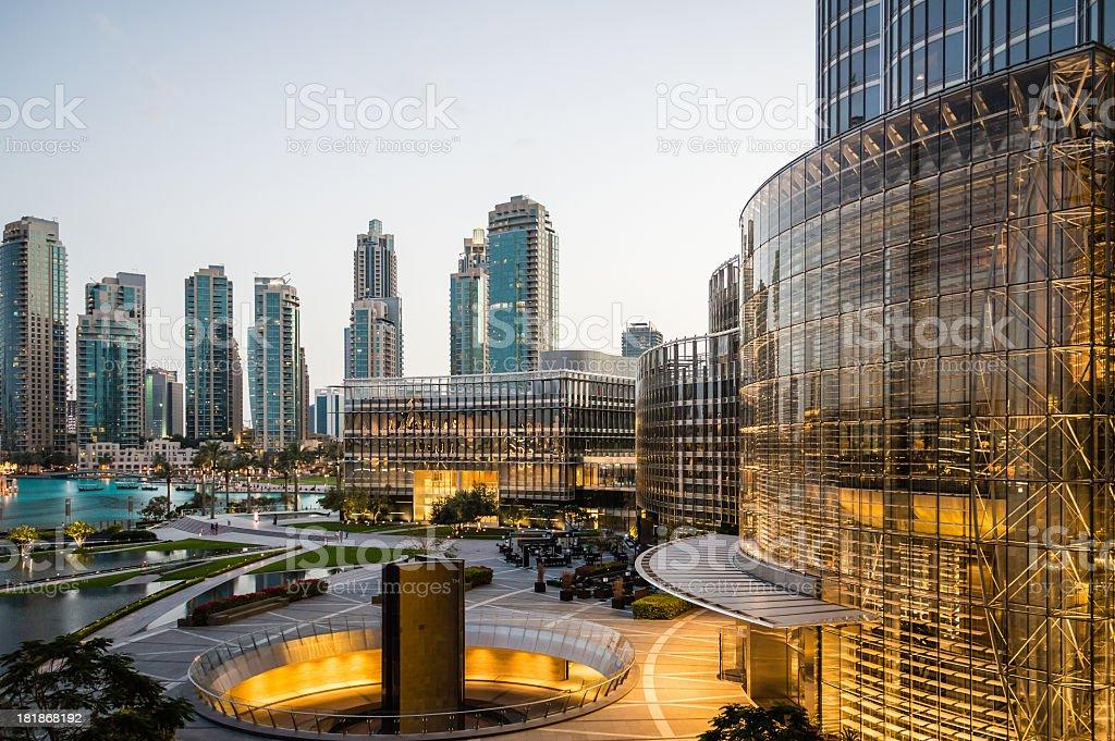 Dubai Skyline from the Burj Khalifa stock photo