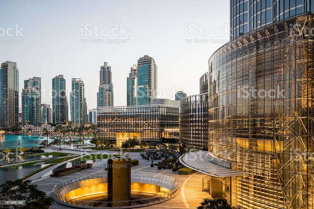 Dubai Skyline from the Burj Khalifa stock photo