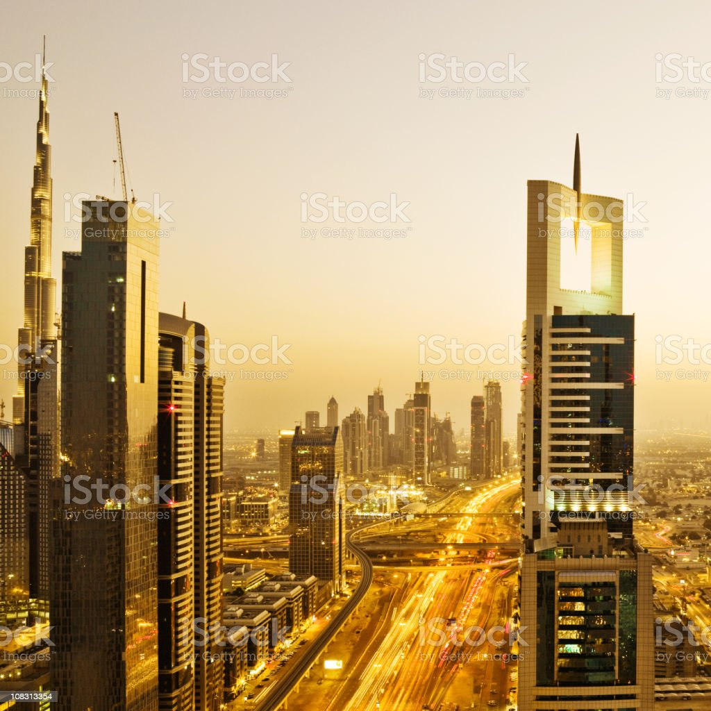 Dubai Skyline royalty-free stock photo