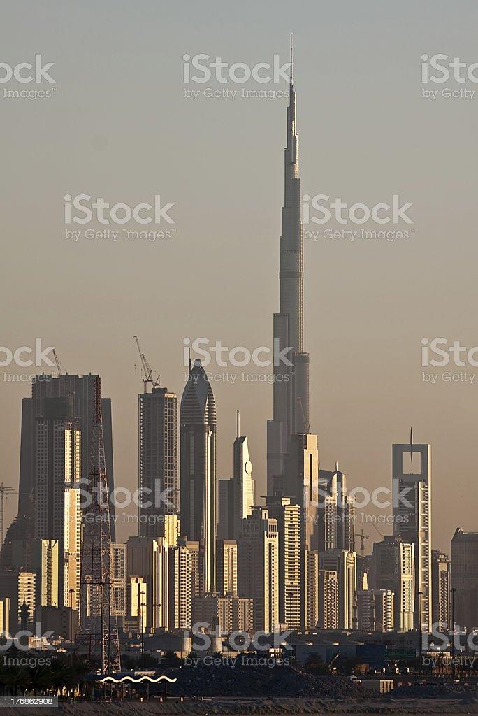 Skyline de Dubai foto de stock royalty-free