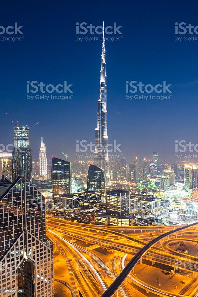 Dubai skyline stock photo