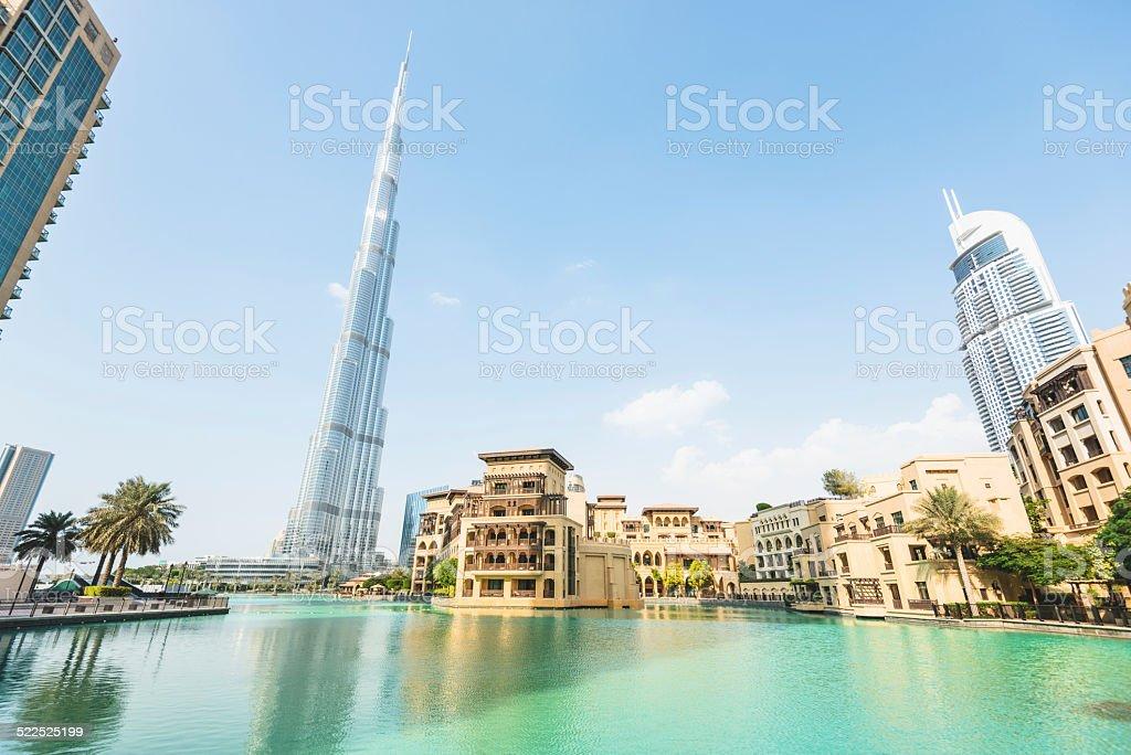 dubai skyline promenade stock photo