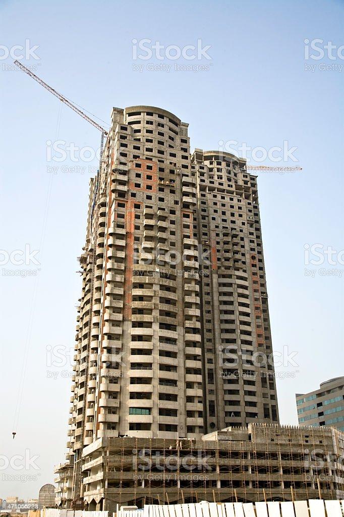 Dubai Skyscraper Construction royalty-free stock photo