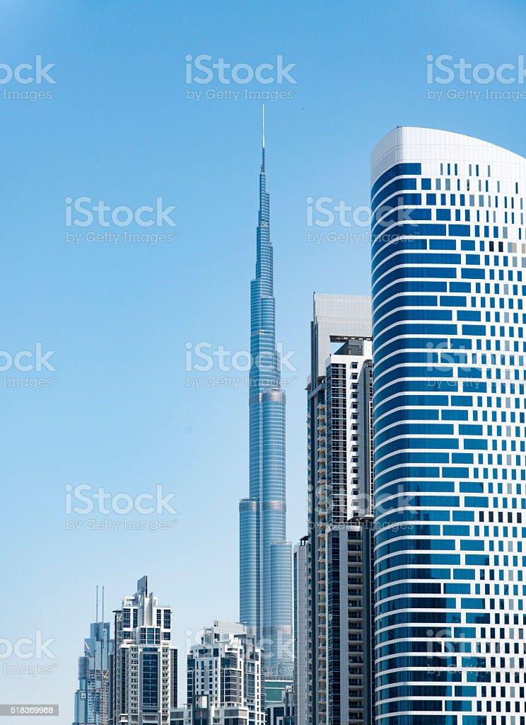 Dubai skyscrapers stock photo