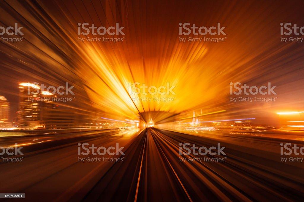 Dubai Speed motion royalty-free stock photo
