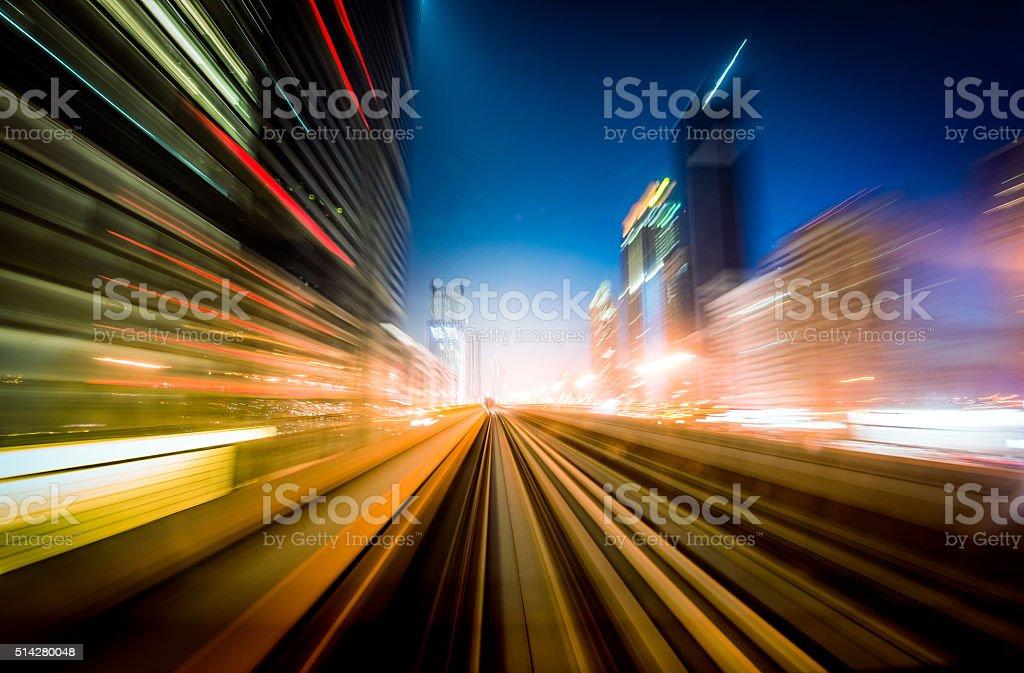 Dubai Speed motion stock photo