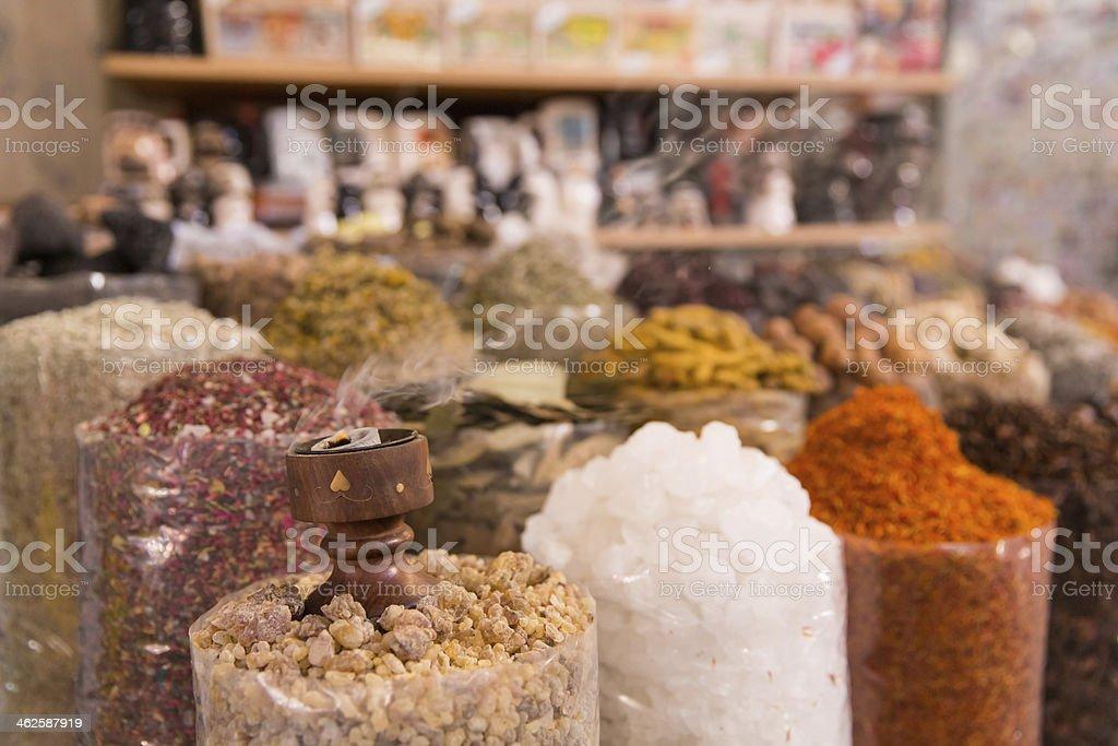 Dubai spices at the souq market royalty-free stock photo