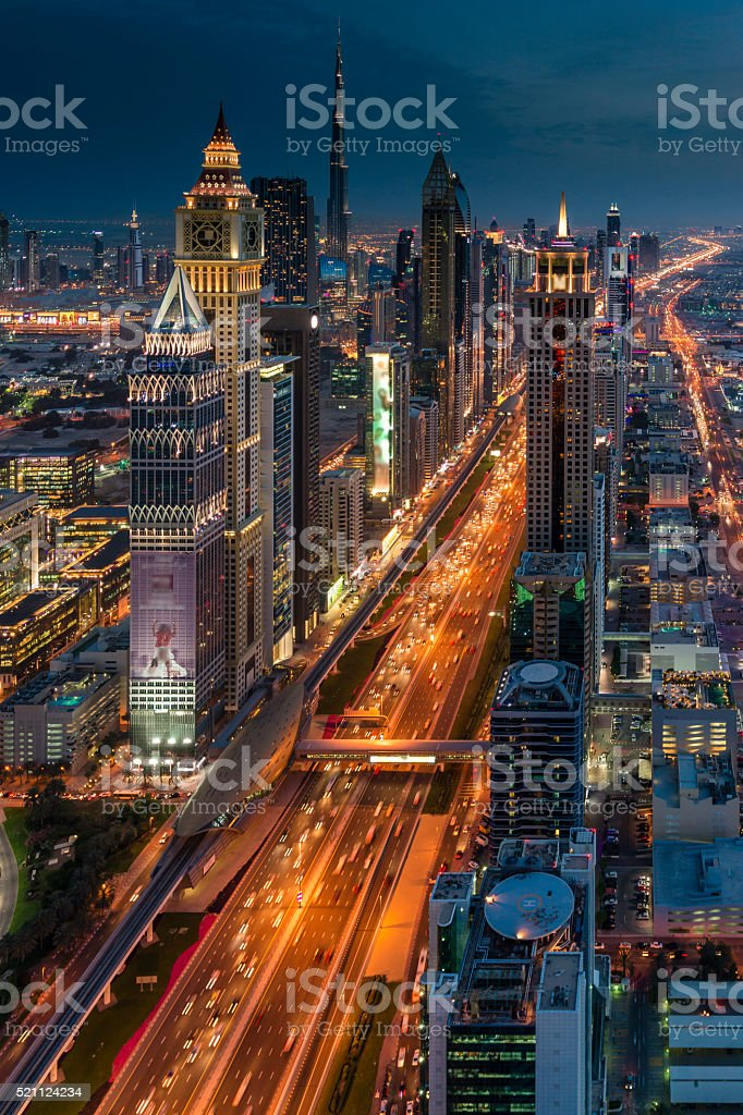 Dubai Sunset stock photo
