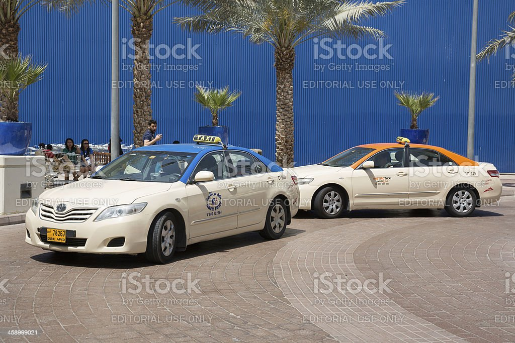 Dubai Taxi stock photo