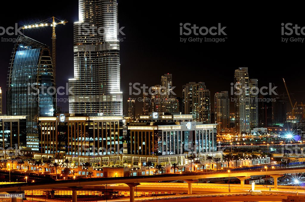 dubai the future city royalty-free stock photo