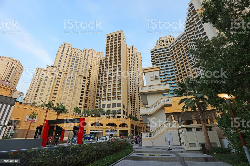 Dubai The Walk JBR stock photo