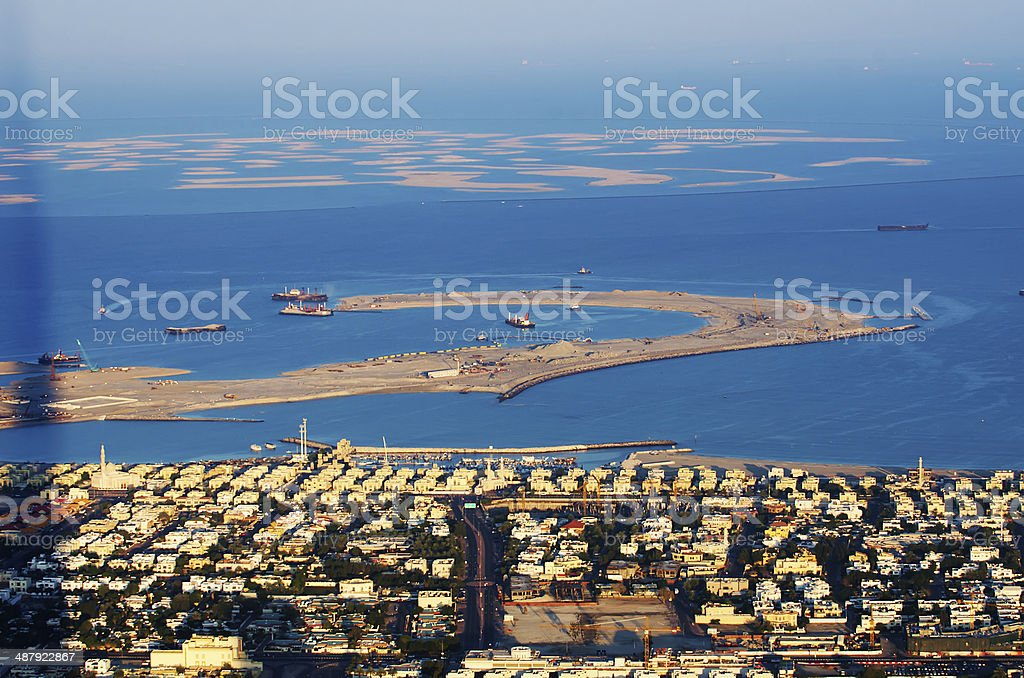Dubai (United Arab Emirates). The World Islands stock photo