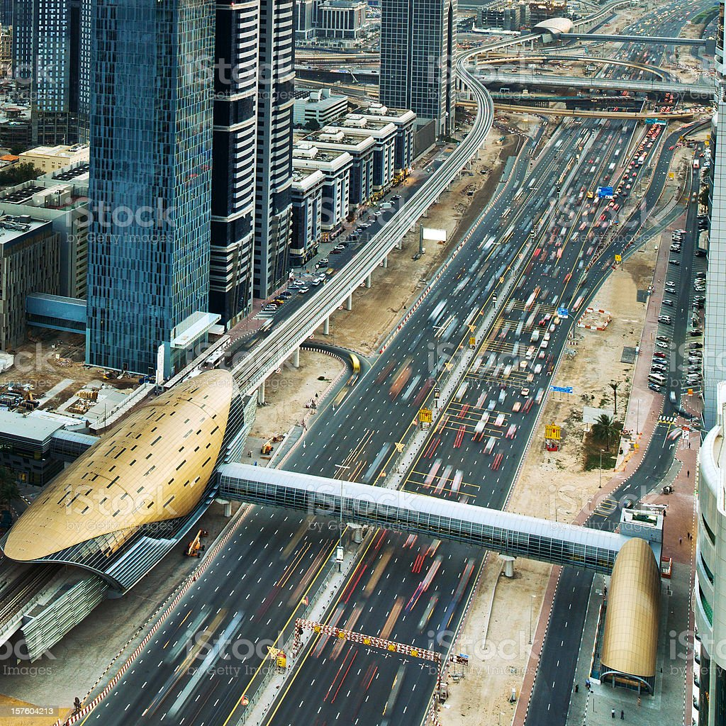 Dubai Traffic royalty-free stock photo
