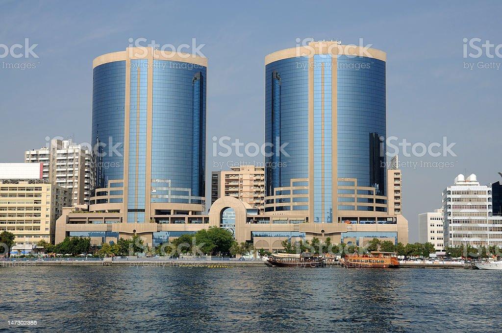 Dubai Twin Towers stock photo