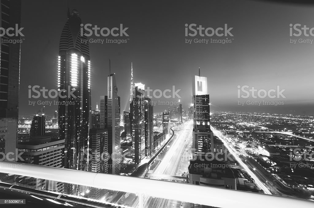 Dubai, UAE. Black and White series stock photo