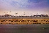 Dubai, UAE: Consruction of A380 Terminal at Dubai International Airport
