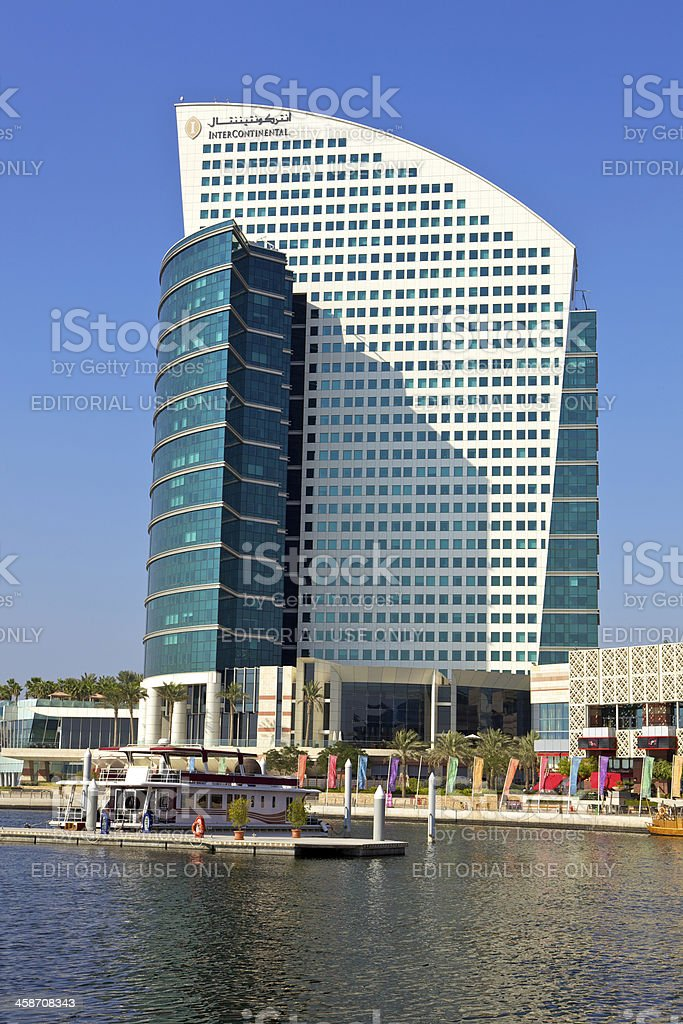 Dubai, UAE - InterContinental Hotel royalty-free stock photo