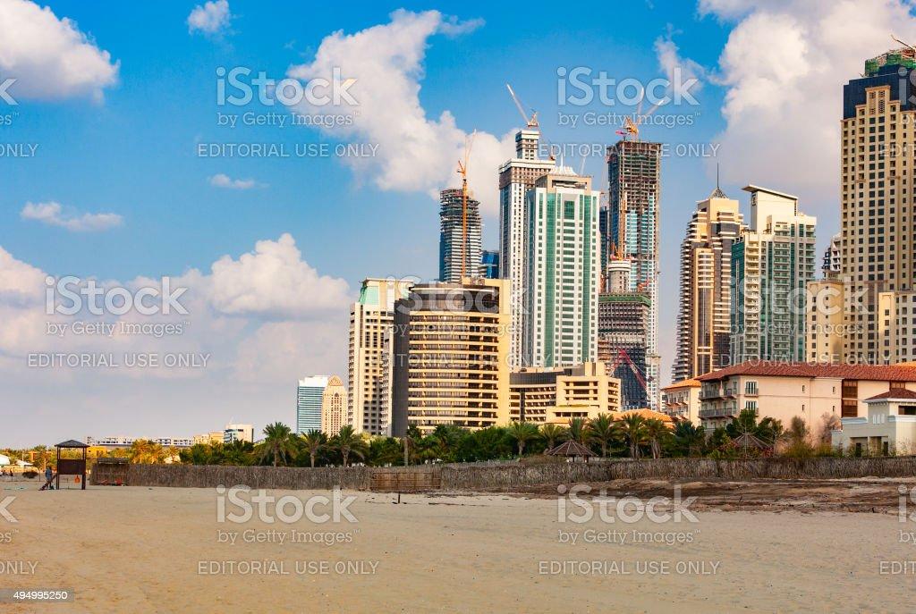 Dubai, UAE - Late afternoon on Umm Suqueim Beach. stock photo