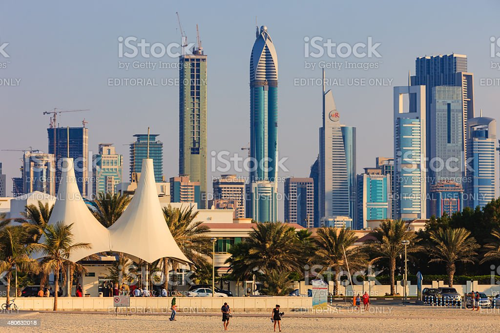 Dubai, UAE - Skyline and construction stock photo