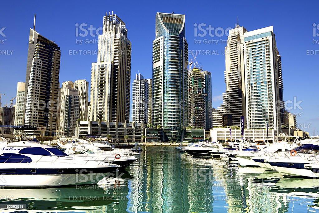 Dubai, UAE - The Marina, absolute luxury stock photo