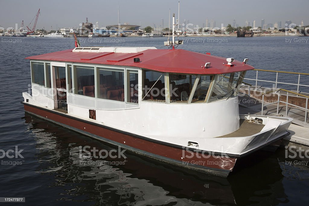 Dubai Water Bus stock photo