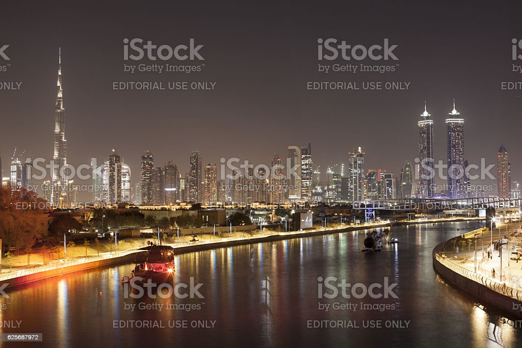 Dubai Water Canal Grand Opening stock photo
