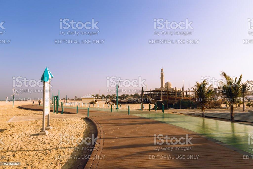 Dubai's famous Jumeirah Corniche - Jogging Track stock photo