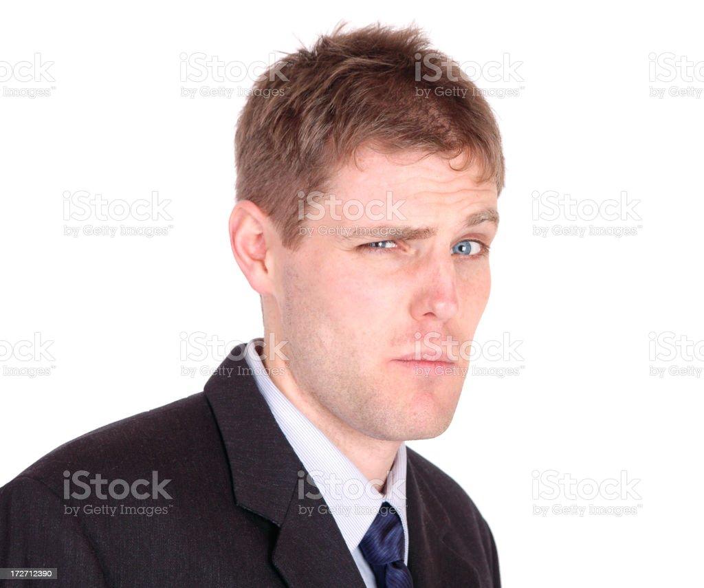 Dubious Businessman stock photo