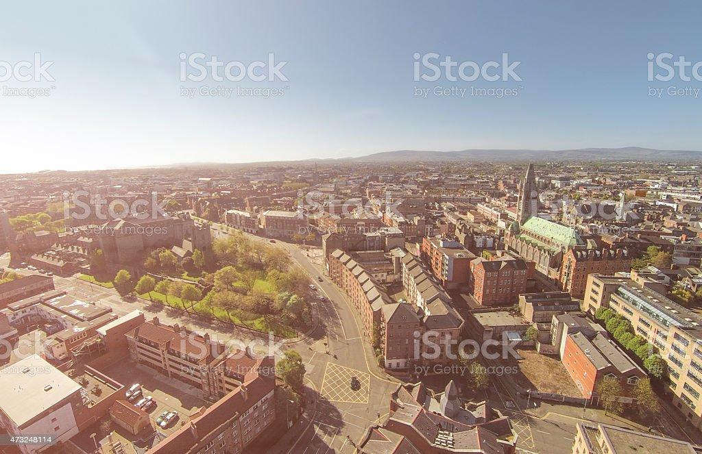Dublin aerial photo stock photo