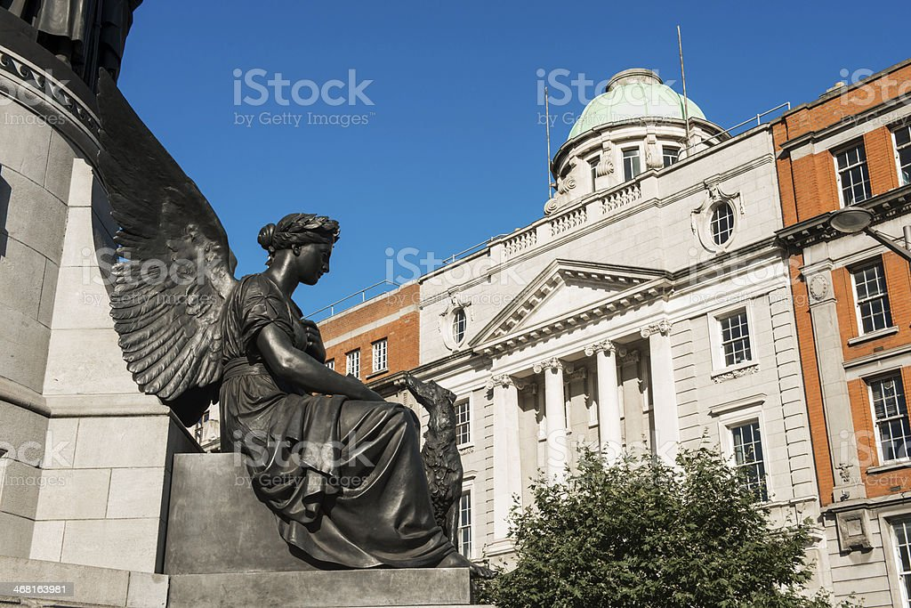 Dublin Angel Views Neo Classical Architecture stock photo