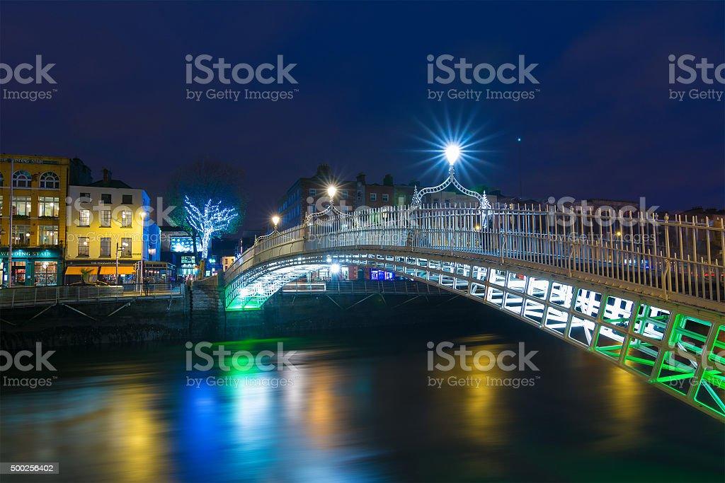 Dublin at Christmas stock photo