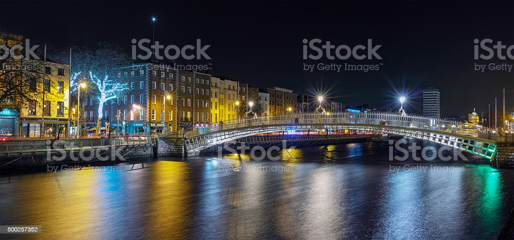 Dublin at Christmas stock photo