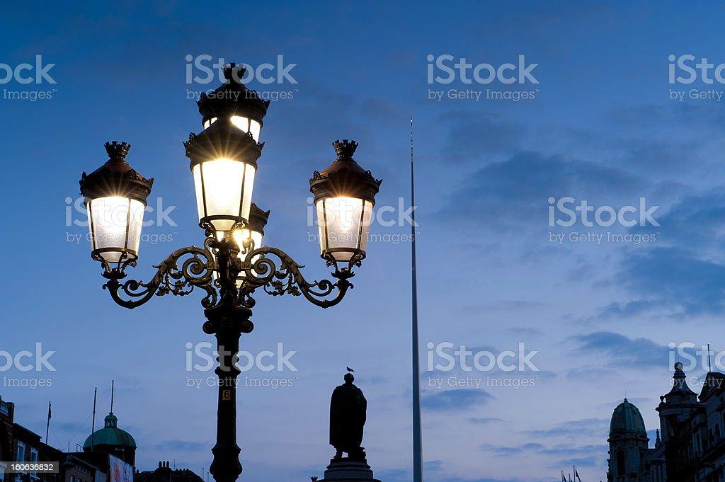 Dublin at twilight royalty-free stock photo