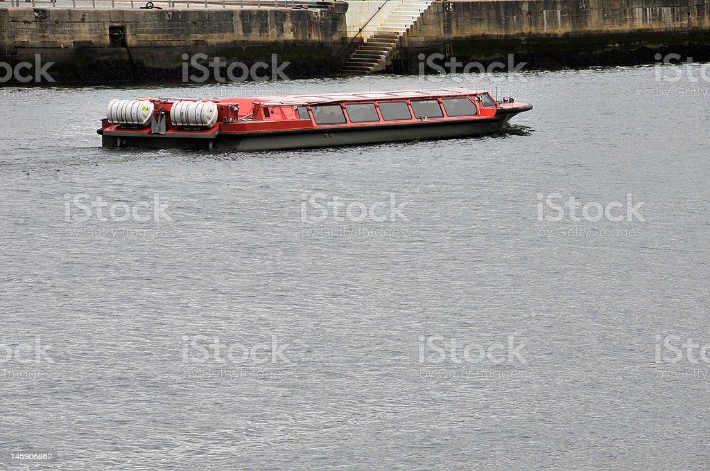 Dublin: Bootsfahrt am Liffey. Lizenzfreies stock-foto