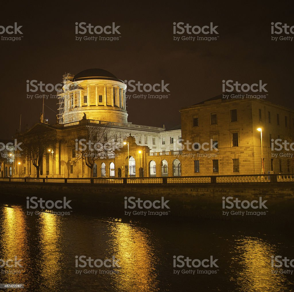 Dublin by night royalty-free stock photo