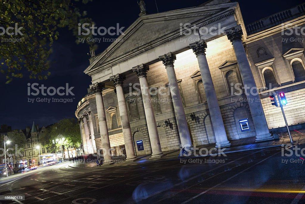 Dublin by night stock photo