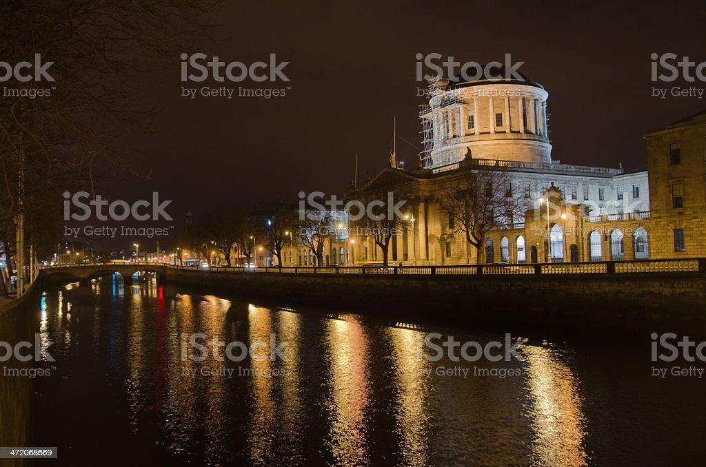 Dublin by night royalty-free stock photo