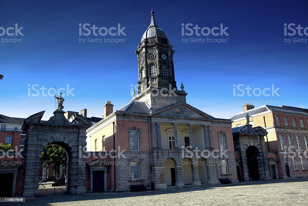 Dublin castle, Bedford tower royalty-free stock photo