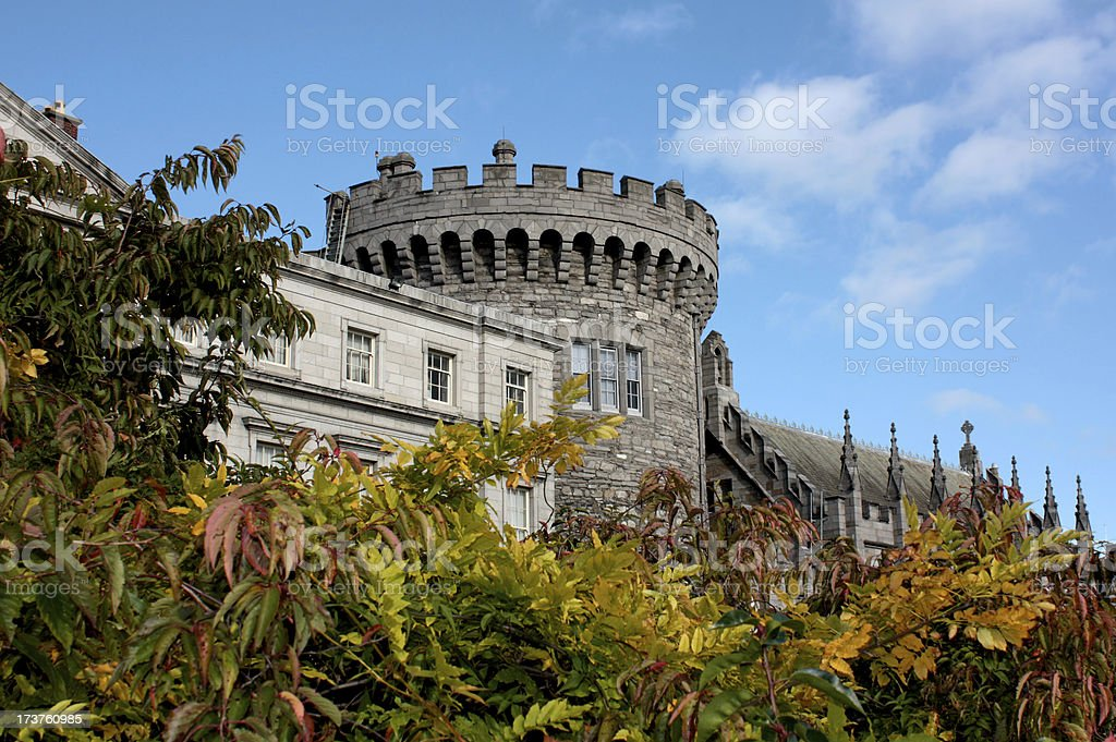 Dublin Castle in Ireland stock photo