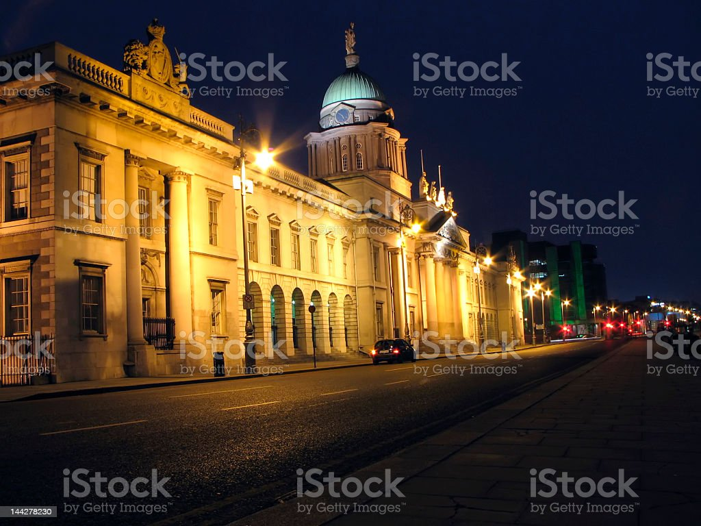 Dublin Custom House By Night royalty-free stock photo
