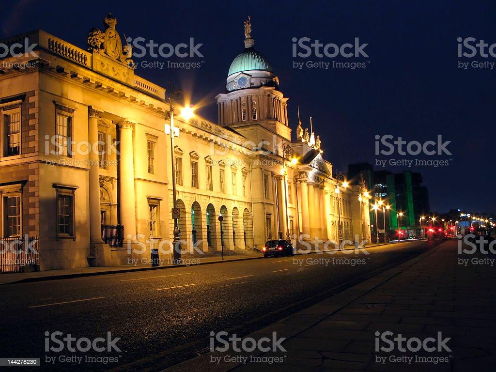 Dublin Custom House By Night stock photo