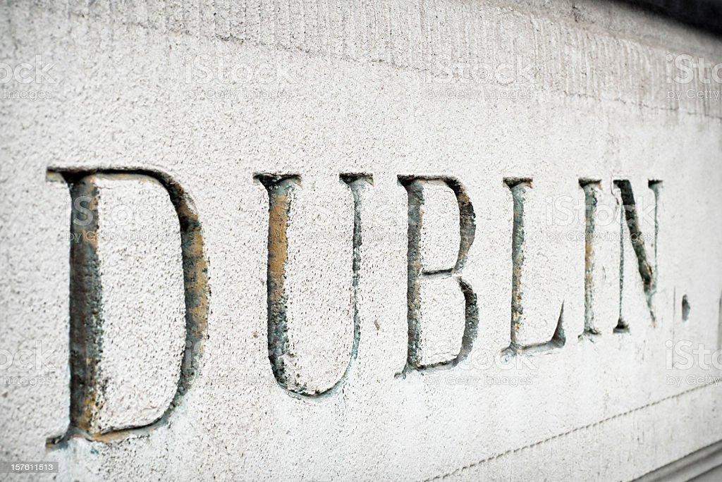'Dublin' Cut in Stone stock photo