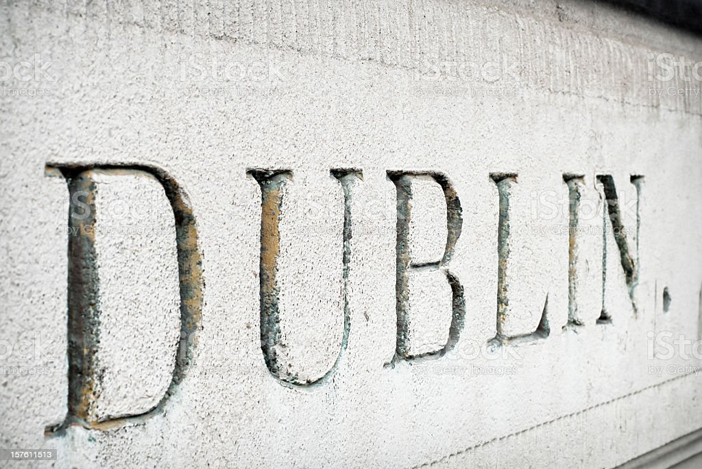 'Dublin' Cut in Stone stock photo
