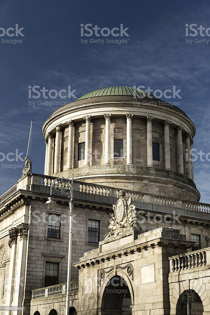 Dublin Four Courts stock photo
