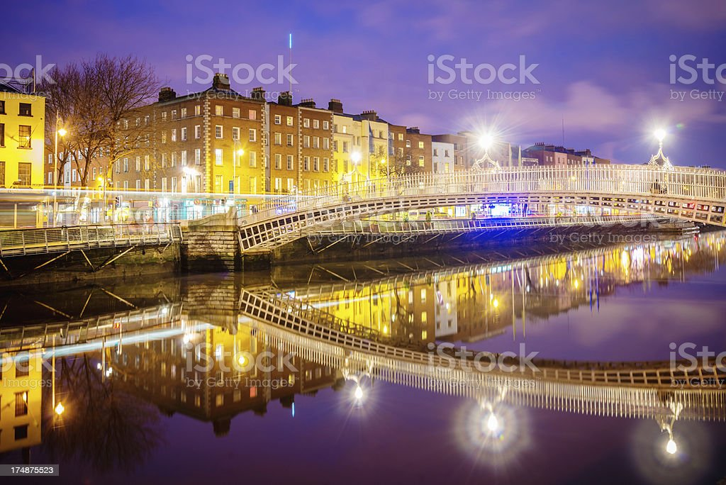 Dublin Ha'penny Bridge royalty-free stock photo